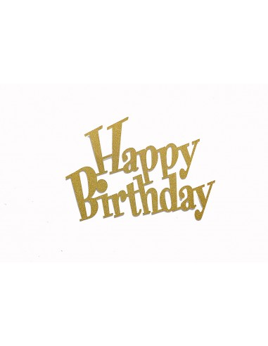 Happy Birthday – Topper for Cake